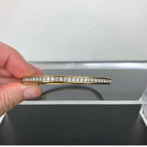 Swarovski Gold Jewel Row Bracelet Bangle
